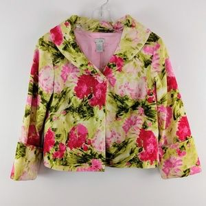 Anthropologie Odille Floral Blazer Jacket 2